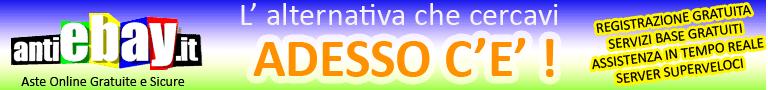 Antiebay Aste Online gratuite e sicure: vendi all'asta o prezzo fisso oggetti e servizi