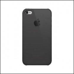 ILUV ICC743 TRANSLUCENT case per iPhone 4 Nero