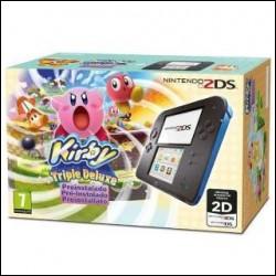Nintendo 2DS Nero/Blu + Kirby Triple NUOVO