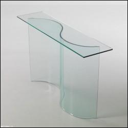 Consolle Onda vetro curvato