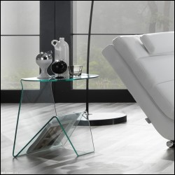 Tavolino Markos vetro curvato