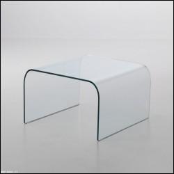 Tavolino Kristal little vetro curvato