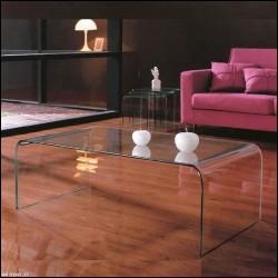 Tavolino Kristal Big vetro curvato