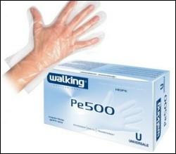 Walking Guanti monouso goffrata polietilene 500pz misur