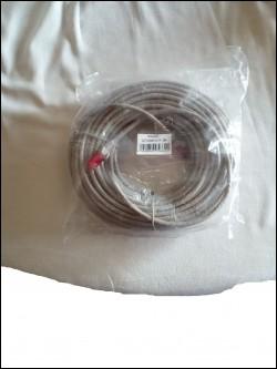 Cavo di rete SFTP CAT.6 Doppia Schermatura grigio/rosso