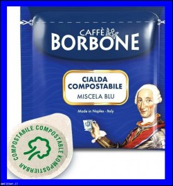 400 Cialde Caffè Borbone Miscela Blu Cialda Filtrocarta