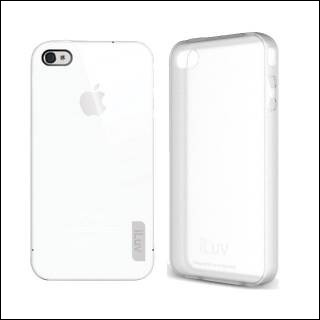 ILUV ICC743 TRANSLUCENT case per iPhone 4 Bianco