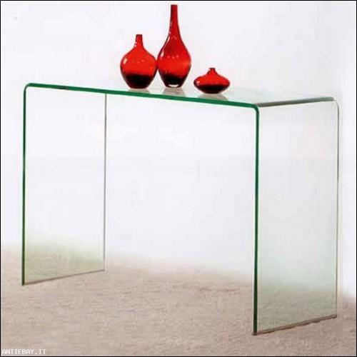 Consolle Bridget vetro curvato