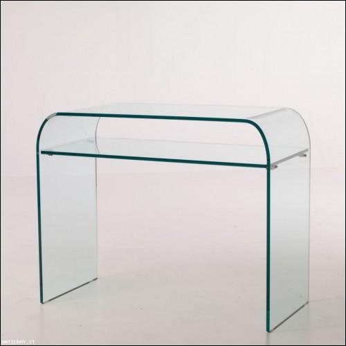Consolle Glass ripiano vetro curvato