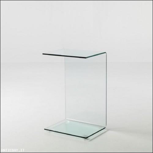 Tavolino Services vetro curvato