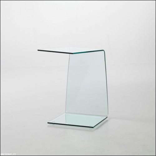 Tavolino Twinky vetro curvato