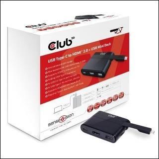 Club3D Mini Dock USB Type-C to HDMI2.0/USB2.0/Type-C